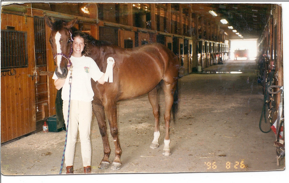 image of Melissa and horse Norman